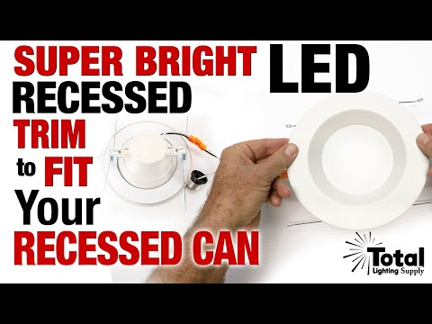 Overview of our Super Bright LED Trim Module for hard to fit Recessed Cans 5