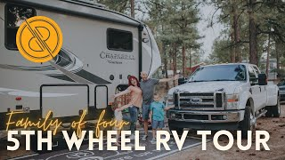 Full-time Family 5th Wheel RV Tour (Coachmen Chaparral 373MBRB bunkhouse)