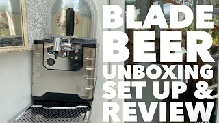Heineken Blade Beer Dispenser Unboxing Set Up & Review With Birra Moretti Keg