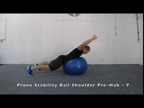Prone Stability Ball Shoulder Pre-Hab - Y