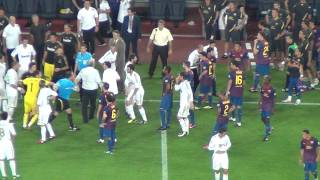Barça Vs Real Madrid 3-2 Marcelo's Fault On Fabregas + Fight 17/08/2011 (HD)