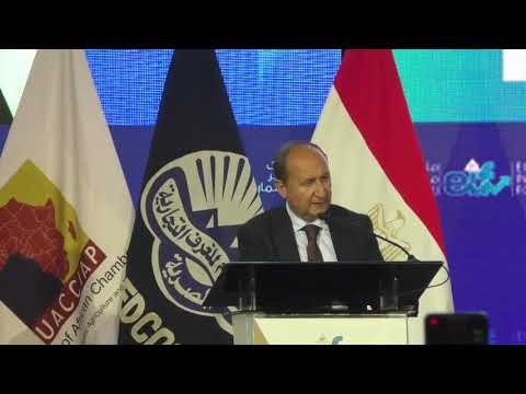 كلمة السيد/ رئيس مجلس الوزراء يلقيها المهندس/عمرو نصار وزير التجارة والصناعة