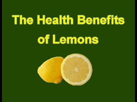 Video The Health Benefits of Lemons
