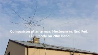 Comparison Of Antennas: Hexbeam Vs. End Fed. JT65 Mode On 20m.