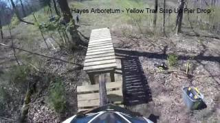 Testing the  Step Up Pier Drop on the Yellow Trail.