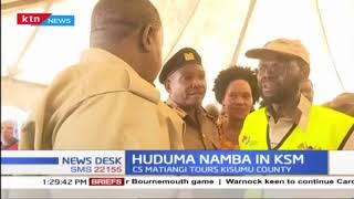 CS Matiangi has toured Kisumu for Huduma namba registration