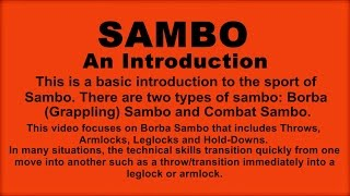 SAMBO An Introduction