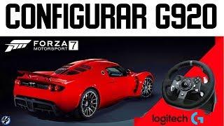 configurar volante logitech g920 xbox one forza horizon 4