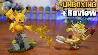 Pikachu Vs Meowth Showdown | Pokemon Mega Construx | Unboxing & Review