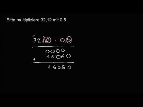 multiplizieren mit komma übungen