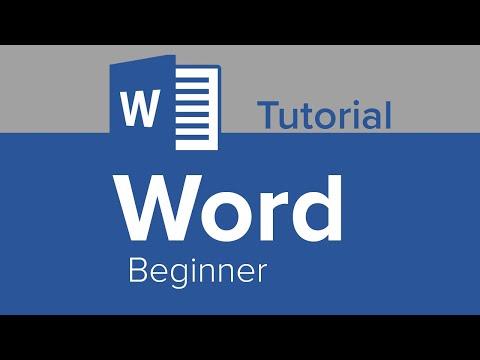 Word Beginner Tutorial - YouTube