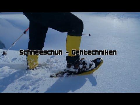 Schneeschuh - Gehtechnik