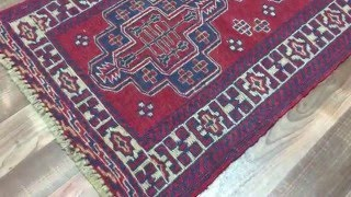 Semi-Antique Red and Blue Persian Baluch Runner Rug 2'X8'3 - 1785