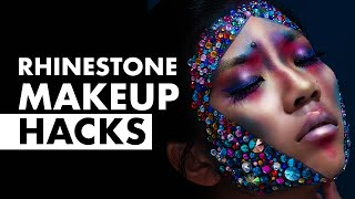 How to Glue Gems on Your Face | GRWM: Makeup Hacks