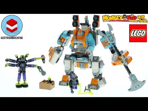 Vidéo LEGO Monkie Kid 80025 : Le puissant robot chargeur de Sandy