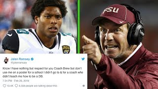 Jalen Ramsey BLASTS Jimbo Fisher for Using Him to Recruit Athletes to Texas A&M