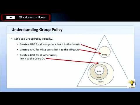 Windows Server (MTA Exam 98-365) - 8 Group Policy - YouTube