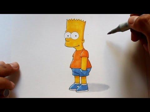 Wie zeichnet man Bart [Die Simpsons] zeichen tutorial