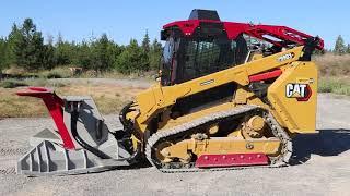 Caterpillar 299D3 XE Steel Track Equipped with Defender Ballistic Door and Top Guard
