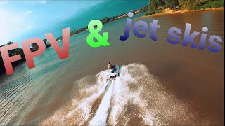Going all in / fpv jet ski chase / flying over water