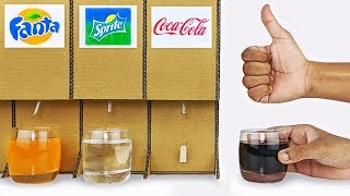 How to make Cold Drink Dispenser from cardboard DIY at home