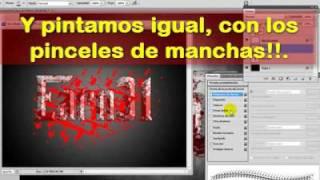 Tutorial Letras Sangrientas Photoshop en español