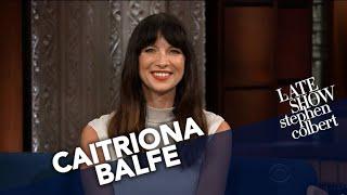 Stephen Colbert Show - Caitriona Balfe