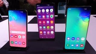 Anteprima Samsung Galaxy S10, S10+, S10e
