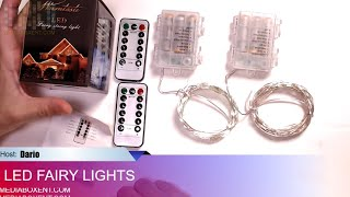 Fairy Lights Fairy String Lights Battery Operated Waterproof 8 Modes 100 LED