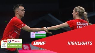 TOTAL BWF SUDIRMAN CUP 2019 | XD | INDONESIA VS ENGLAND | BWF 2019
