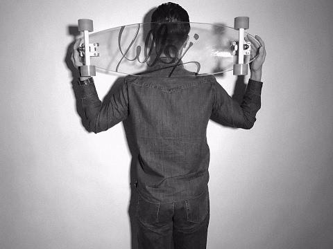 GLASS SKATEBOARD!   Jelly Skateboards Man O'War Longboard Review