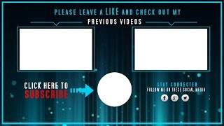 Download video - Youtube Endscreen Template (No Photoshop ...
