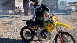 Riding the new RM250!