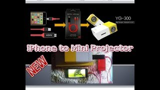 How to connect a mini projector to your android or iPhone