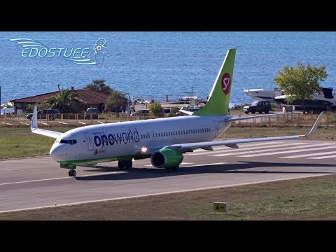 Tower View Tivat Airport LYTV/TIV - S7 Oneworld Livery Boeing 737 Takeoff
