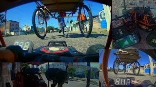 Perseguindo ciclista FPV RC CAR na RUA Wltoys 12428