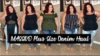 HUGE Plus Size Jeans Haul - Fashion to Figure