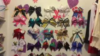 Hanging Up All Of My Cheer Bows!