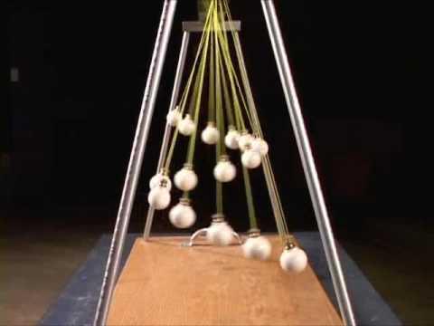 Pendulum wave apparatus.