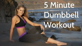 5 Minute Full Body Dumbbell Workout by BodyFit By Amy