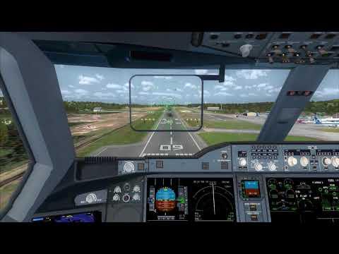 Thai Airways A350-900 taxi to Gate at Dubai [FSX] - смотреть