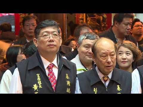 Premier Lai Ching-te joins worshipers for prayers at Qing-an Temple in Keelung