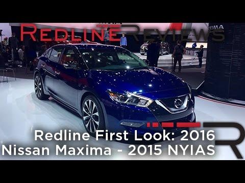 2016 Nissan Maxima – Redline: First Look – 2015 New York Auto Show