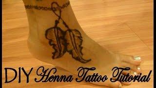 DIY Henna Tattoo Tutorial │ Feather Ankle Bracelet │ Boho Inspired