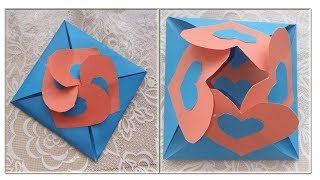 Love card sealed with hearts - learn how to make a heart-lock greeting card- Vogue of today - Video Youtube