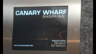 preview picture of video 'Tour of Lifts at canary wharf shopping centres'