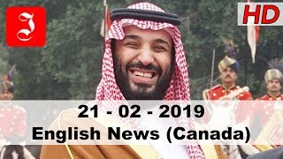 News English Canada 21st Feb 2019