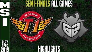 SKT Vs G2 Highlights ALL GAMES | MSI 2019 Semi-finals Day 6 | SK Telecom T1 Vs G2 Esports
