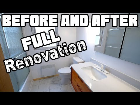 1970s Mobile Home Bathroom Makeover Reveal and Tour | Home Renovation #62