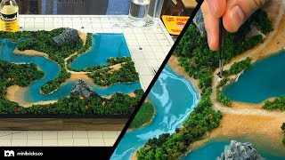 Diorama in the style of aerial photography